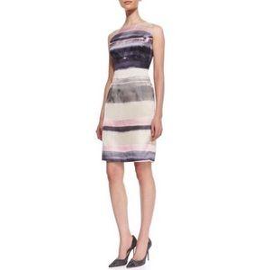 Lafayette 148 Evelyn Striped Silk Sheath Dress 6